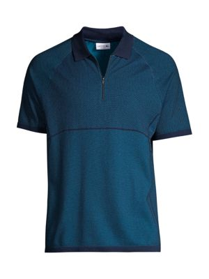 Motion Regular-Fit Jacquard Zip Polo