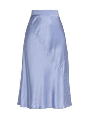 Silk A-Line Skirt