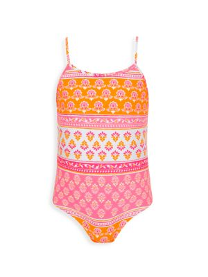 Little Girl's & Girl's 1-Piece Print Swimsuit