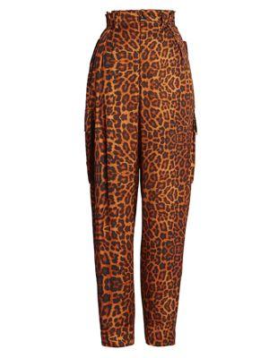 Leopard-Print Cargo Pants