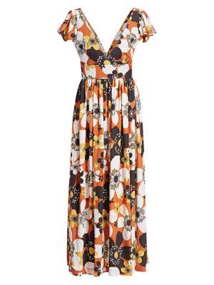 Jenny Long Floral Dress