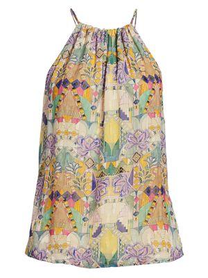 Inka Tapestry Print Halter Top