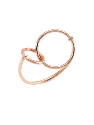18K Rose Gold Tiny Interlocking Circle Ring