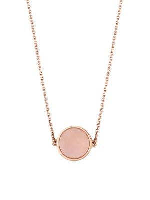 18K Rose Gold & Pink Mother-Of-Pearl Mini Pendant Necklace