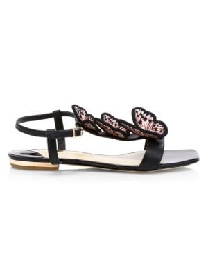 Riva Butterfly Flat Leather Sandals