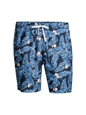 Charles Tropical Leaf Swim Trunks