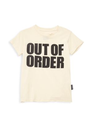Little Boy's Out Of Order Cotton Tee