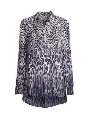 Ingunn Leopard-Print Button-Front Shirt