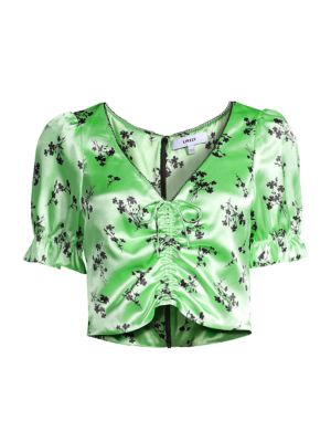 Mona Floral Cropped Blouse