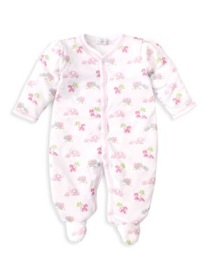 Baby Girl's Safari Siblings Footie