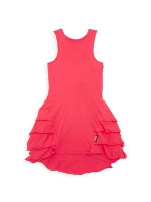 Little Girl's Fancy Layer Ruffle A-Line Dress