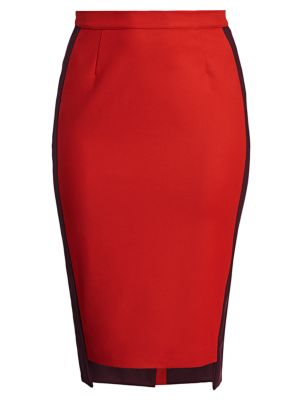 Side Striped Pencil Skirt