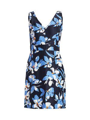 Hibiscus Print Sheath Dress