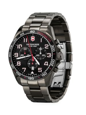 Field Force Sport Chronograph Stainless Steel Bracelet Strap Watch