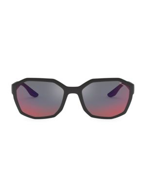 57MM Mirrored Geometric Sunglasses