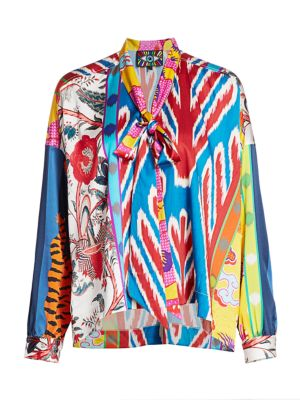 Prince of Chintz Tie Blouse