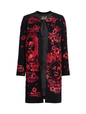 Paillette Modern Toile Sequin Coat