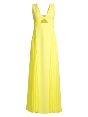 Eve Contrast Pleated Gown