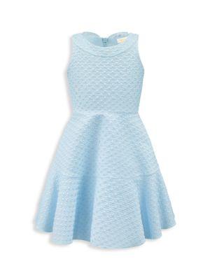 Little Girl's Sleeveless Brocade Flare Dress