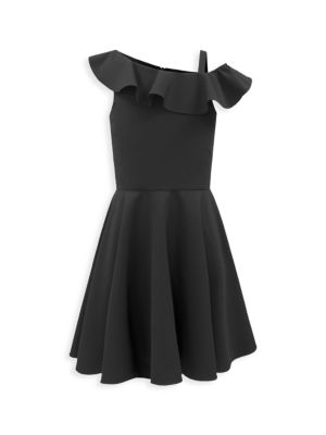 Girl's Ruffle One-Shoulder Dress