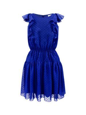 Girl's Frill Chiffon Dress