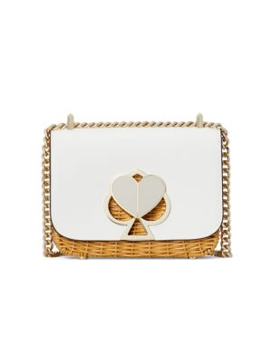 Small Nicola Wicker Twistlock Chain Shoulder Bag