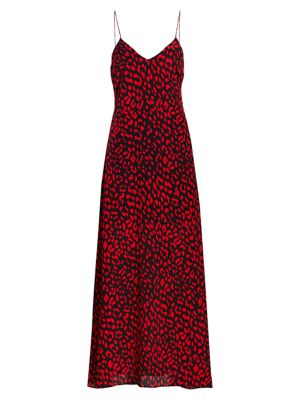 Candice Printed Silk Slip Dress