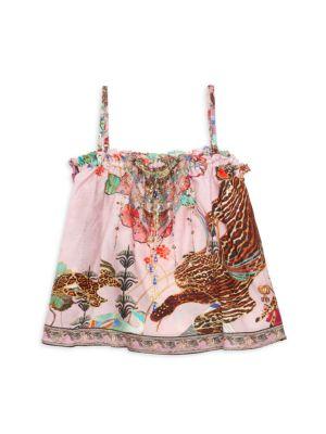 Little Girl's Ziba Ziba Floral-Print Tank Top
