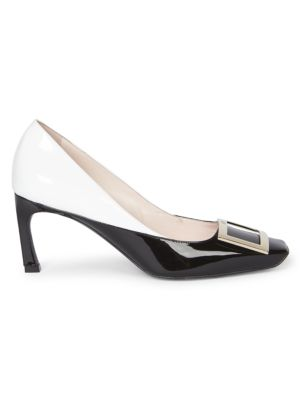 Belle Vivier Trompette Colorblock Leather Pumps