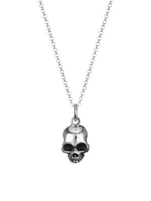 New Classics Half Halmet Skull Sterling Silver Necklace
