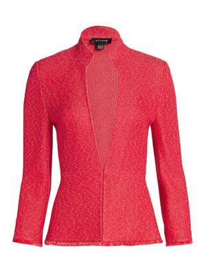 Refined Knit Highneck Jacket