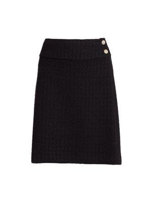 Ribbon Textured Pencil Skirt
