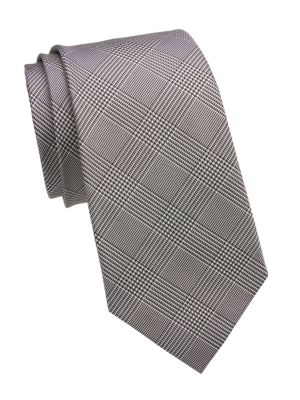 Prince Of Wales Check Silk Tie