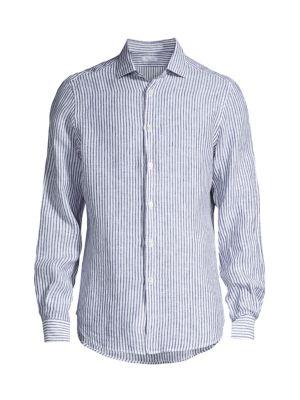 Striped Linen Dress Shirt