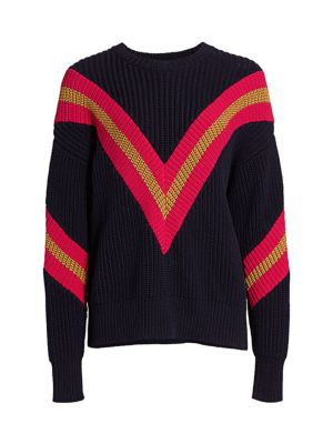 Leon Oversized Chunky-Knit Chevron Sweater