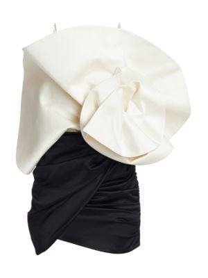 Belgrade Gathered Silk & Wool Mini Dress