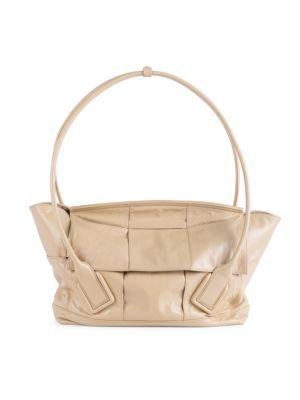 Medium Arco Leather Satchel