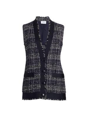 Tweed Patch Pocket Vest