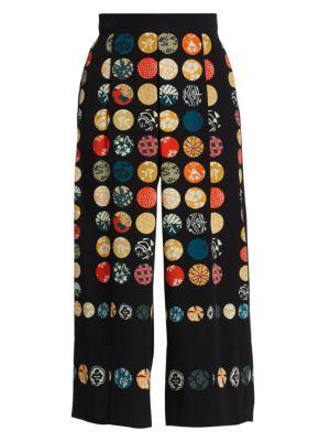 Makoto Cullote Wood Dot Printed Pants