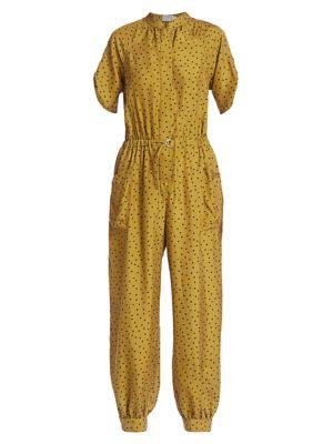 Francis Polka Dot Silk Jumpsuit