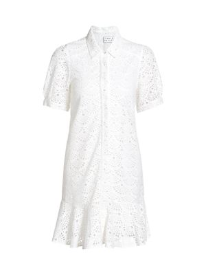Aliciana Lace Shirt Dress