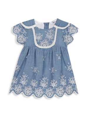 Baby's & Little Girl's Embroidered Chambray A-Line Dress