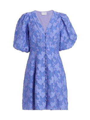 Darline Puff-Sleeve Dress