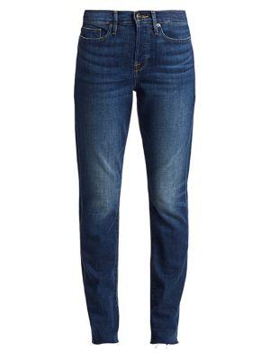 Le Beau High-Rise Straight Leg Jeans