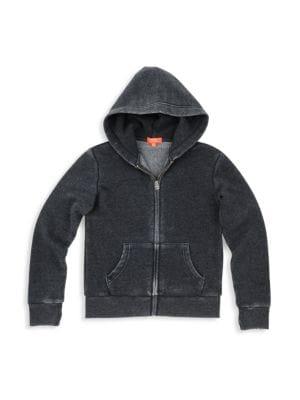 Little Girl's & Girl's Burnout Fleece Zip-Front Hoodie