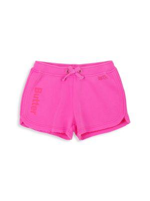 Little Girl's & Girl's Burnout Fleece Varsity Shorts