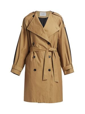 Colorblocked Trench Coat