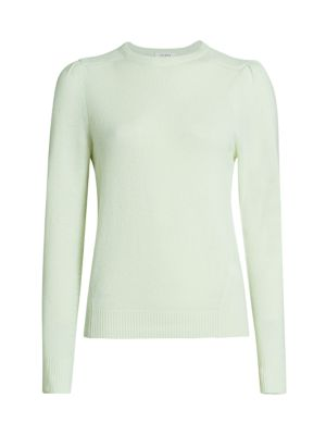 Easy Cashmere & Wool Puff-Sleeve Sweater