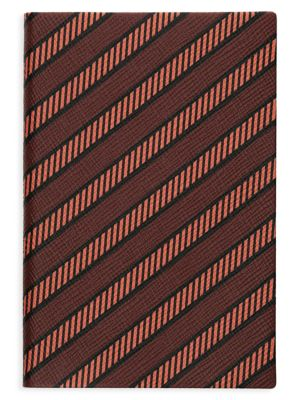 P/G Chelsea Diagonal Stripe Leather Notebook