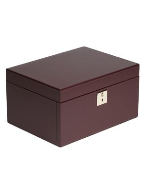 Madison 3 Drawer Leather Jewelry Box